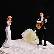 Pasta Üstü Figürler Kişiselleştirilmemiş Klasik Çift Reçine Düğün Beyaz / Siyah Çiçek Teması / Klasik Tema Hediye Kutusu