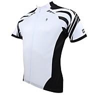 ILPALADINO Herre Kortærmet Cykeltrøje - Hvid Cykel Trøje, Hurtigtørrende, Ultraviolet Resistent, Åndbart, Svedreducerende