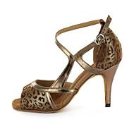 billige Sko til latindans-Tilpass kvinners lær Øvre Modern dansesko sandaler med Buckie