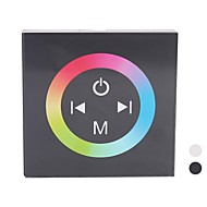 billige Lampesokler og kontakter-TM08 LED RGB Touch Panel Controller for Single Color LED Strip (DC12-24V inngang, Max 4A * 3channel Output)