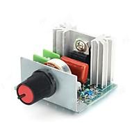 FR-4 A 2000W Voltage Regulator eletrônico w / Ajuste Dimmer / Velocidade / Temperatura - Verde