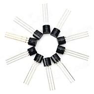 30V NPN-Leistungstransistor Paket Triode Transistor - Schwarz (10 Stück)