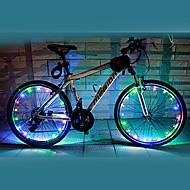 Sykkellykter hjul lys LED Sykling Vanntett Fargeskiftende AA Lumens Batteri Sykling-FJQXZ