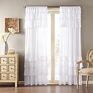 ieftine -Un Panou Tratamentul fereastră Țara Mată Sufragerie Poliester Material perdele, draperii Pagina de decorare