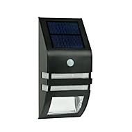 2 LED-uri alb cald din oțel inoxidabil solare Lumina de perete cu PIR senzor de mișcare