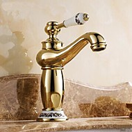 cheap Ti-PVD Series-Traditional Centerset Ceramic Valve One Hole Single Handle One Hole Ti-PVD, Bathroom Sink Faucet