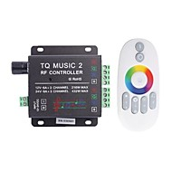 billige Lampesokler og kontakter-TQ Musikk 3-Channel LED Controller RF Music Controller RGB Audio Controller (DC12-24V)
