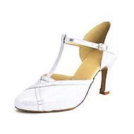billige Kustomiserte dansesko-Dame Moderne sko Kunstlær Sandaler Gummi / Spenne Kustomisert hæl Kan spesialtilpasses Dansesko Sølv / Blå / Gull