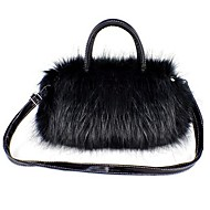 Women Bags Winter PU Shoulder Bag Tote for Casual White Black