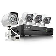 halpa -zmodo® 4ch hd NVR spoe turvajärjestelmä 4 720p yötä ip-kamera