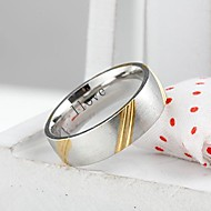 Personalized Gift  Fashionable Stainless Steel Jewelry Engraved  Men's Ring 0.6cm Width