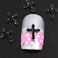 저렴한 -10PCS 빨간 모조 다이아몬드 교차 손가락 끝 액세서리 네일 아트 장식