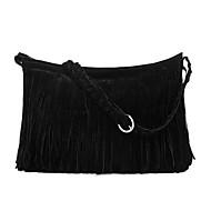 baratos Bolsas de Ombro-Mulheres Bolsas Camurça Bolsa Transversal para Casual Cinzento / Marron / Camel