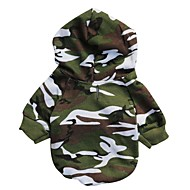 cheap -Cat Dog Hoodie Dog Clothes Camouflage Camouflage Color Cotton Costume For Pets Men's Fashion