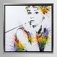 Framed Canvas Art, Color splashes Audrey Hepburn with Stretched Frame