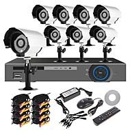 levne Sady videorekordérů-BNC 16 kanálů NTSC: 960 (H) x 582 (V)/PAL: 976 (H) x 494 (V) 15~20 Ne