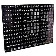 1 komad 250 Dizajn veliki nail art žig žigosanje predložak slike ploča / noktiju matrice (slučajni uzorak)