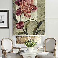 Oil Painting Style Growing Floral Roller Shade