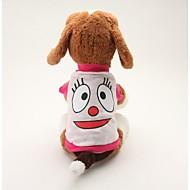 Cachorro Camiseta Roupas para Cães Respirável Fofo Casual Desenhos Animados Azul Rosa claro Ocasiões Especiais Para animais de estimação