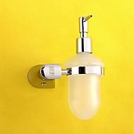 Soap Dispenser / Chrome Brass Glass /Contemporary