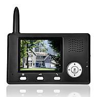 billige Dørtelefonssystem med video-farge lcd dørtelefon ringeklokke intercom system 2.4G trådløs video ir-kamera