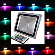 lampă de inundații impermeabil 30W 2900lm lumina RGB de la distanță controlate de condus (85v-265V)