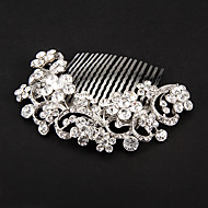 billiga Brudhuvudbonader-Kristall Tyg Legering Tiaras Hair Combs Blommor 1 Bröllop Speciellt Tillfälle Fest / afton Hårbonad