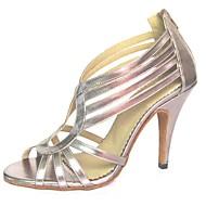 baratos Sapatilhas de Dança-Mulheres Sapatos de Dança Latina Courino Sandália Ziper Salto Agulha Não Personalizável Sapatos de Dança Rosa / Prateado