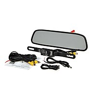 """4,3 """"TFT LCD obrazovka auto zadní pohled systém zálohování reverzní Sada kamery pro noční vidění"""