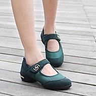 """billige Moderne sko-Dame Dansesko Ballett Syntetisk Joggesko Lav hæl Svart Rød Grønn 1 """"- 1 3/4"""" Kan ikke spesialtilpasses"""