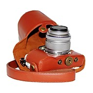 cheap Cases, Bags & Straps-Dengpin® PU Leather Litchi Pattern Camera Case for Olympus PEN E-PL7 with 17mm/14-42mm Lens