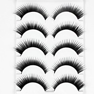 New 5 Pairs Natural Black Long Thick False Eyelashes Eyelash Eye Lashes for Eye Extensions