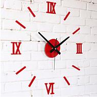 """Moderne / Nutidig Andre Veggklokke,Rund Akryl 10 x 10 x 8(3.9"""" x 3.9"""" x 3"""") Innendørs Klokke"""