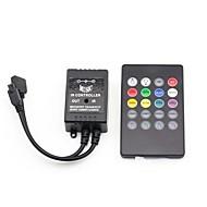 20 kláves hudba IR dálkové ovládání pro RGB LED strip světla (12V 3x2a)