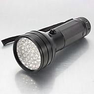LS014 LED懐中電灯 ブラックライト・フラッシュライト 携帯式フラッシュライト LED 150 lm 1 モード - 耐衝撃性 滑り止めグリップ 防水 のために 警察/軍隊 狩猟 ワーキング 電池は含まれていません ブラック
