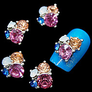 10pcs   Glitter 3D Rhinestone Flower DIY Alloy Accessories Nail Art Decoration