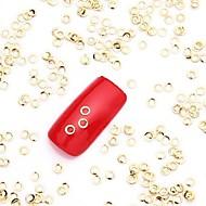 500PCS Gold Nail Art Alloy Slice Metallic Golden Circle Glittery Stud Nail Jewelery for Nail Design