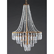 cheap Chandeliers-Rustic/Lodge Lantern Country Traditional/Classic Retro Modern/Contemporary Crystal Chandelier Ambient Light For Living Room Bedroom
