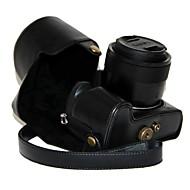 olcso -dengpin pu bőrből készült védőtok táska fedelét vállpánttal Panasonic Lumix DMC-fz1000 fz1000