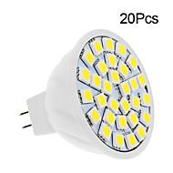 2W GU5.3(MR16) LED Spot Işıkları 30 led SMD 5050 Sıcak Beyaz Serin Beyaz 150-200lm 3500/6000K DC 12V