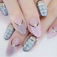 200PCS Beige Pearl Metal Lipping Nail Art Decorations 4mm