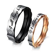 Anéis Pedras dos signos Casamento / Pesta / Diário / Casual / Esportes Jóias Aço Titânio Feminino Anéis de Casal5 / 6 / 7 / 8 / 9 / 10 /