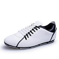 Muškarci Cipele Umjetna koža Proljeće Jesen Udobne cipele Vezanje za Kauzalni Crna Bijela Žuta