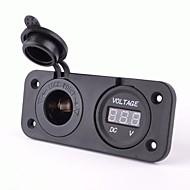 billiga Billaddare för mobilen-eluttag med DC 12V digital voltmeter
