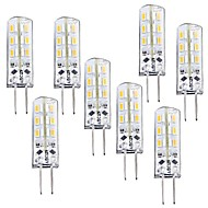 1W G4 LED Corn Lights T 24 leds SMD 3014 Dimmable Warm White 100-120lm 3000-3200K DC 12V