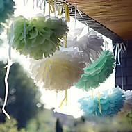 Χαμηλού Κόστους Λουλούδια από Χαρτοπετσέτες-Χάρτινη Διακόσμηση Χαρτί Περλέ / Μεικτό Υλικό Διακόσμηση Γάμου Γαμήλιο Πάρτι Παραλία Θέμα / Θέμα Κήπος / Άνθινο Θέμα Άνοιξη / Καλοκαίρι / Φθινόπωρο