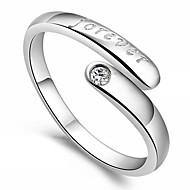 Dame Statement-ringe Kærlighed Hjerte Justérbar Åben kostume smykker Sølv Hjerteformet Smykker Til Fest