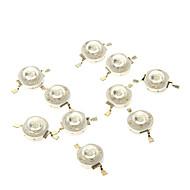 billige Lampesokler og kontakter-zdm® 10 stk 3w 700ma 1 * cob 35-45lm 460-470k blå komponentleder (dc 12-24v)