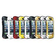 billiga Mobil cases & Skärmskydd-fodral Till iPhone 5 / Apple iPhone 5-fodral Stötsäker / Dammtät / Vattenavvisande Fodral Rustning Hårt Metall för iPhone SE / 5s / iPhone 5