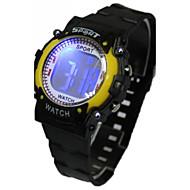 billige Quartz-Dame Modeur Digital Watch Japansk Quartz Digital 30 m Afslappet Ur Gummi Bånd Digital Tegneserie Sort - Gul Rød Blå Et år Batteri Levetid